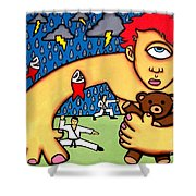 Cyclops I Want To Sleep Shower Curtain