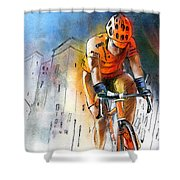 Cycloscape 01 Shower Curtain