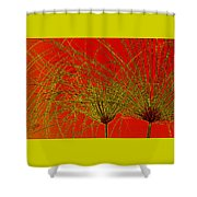 Cyperus Papyrus Abstract Shower Curtain