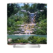 Cypress Garden Waterfalls Shower Curtain
