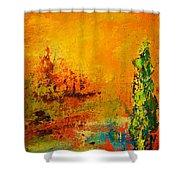 Cypress Gold Shower Curtain