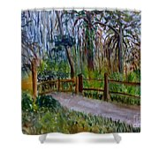 Cypress Trail At Loxahatchee Shower Curtain