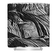 Cypress Tree Abstract Shower Curtain