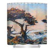 Cypress Tree Coast Shower Curtain
