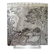Cypresses In Cyprus Shower Curtain