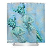 Cyprus Gods Of Trade. Shower Curtain by Augusta Stylianou