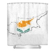 Cyprus Painted Flag Map Shower Curtain