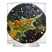 Cyprus Planets Shower Curtain