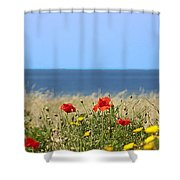 Cyprus Poppies Shower Curtain