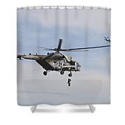 Czech Air Force Mi-171 Hips Training Shower Curtain