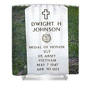D. H. Johnson - Medal Of Honor Shower Curtain