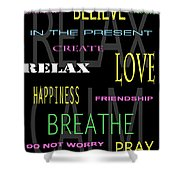 D I Y Anxiety Therapy Shower Curtain