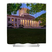 D13l94 Ohio Statehouse Photo Shower Curtain
