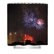 D21l163 Red White And Boom Photo Shower Curtain