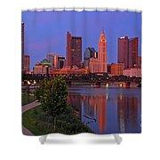 D2l38 Columbus Ohio Skyline Photo Shower Curtain