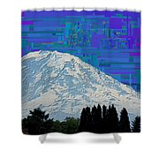Da Mountain Cubed 1 Shower Curtain