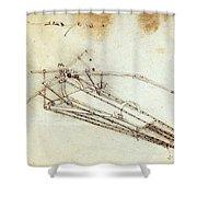 Da Vinci Flying Machine 1485 Shower Curtain