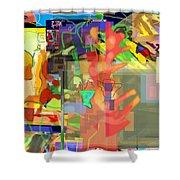 Daas 1l Shower Curtain by David Baruch Wolk