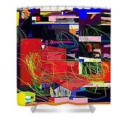 Daas 2 Daas 6a Shower Curtain by David Baruch Wolk