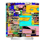 Daas 4 Shower Curtain by David Baruch Wolk