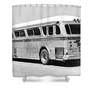 Dachshound Charter Bus Line Shower Curtain