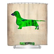 Dachshund Poster 1 Shower Curtain by Naxart Studio