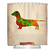 Dachshund Poster 2 Shower Curtain by Naxart Studio