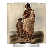 Dacota Woman And Assiniboin Girl Shower Curtain