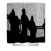 Dad And Three Boys Shower Curtain