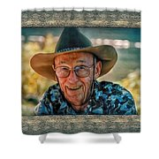 Dad In Cowboy Mood Shower Curtain