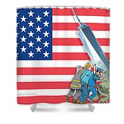Daddys Home 9/11 Tribute Shower Curtain