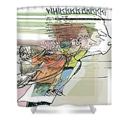 Daddy's Home Inspired Whirrrrrrr Shower Curtain