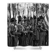 American Soldiers At Muster 1835 Shower Curtain