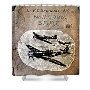 Dad's Flight Training Logbook Shower Curtain
