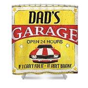 Dad's Garage Shower Curtain