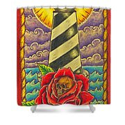 Dad's Lighthouse Shower Curtain