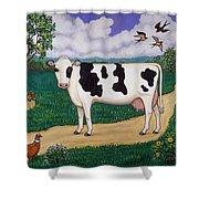 Dad's Prize Milk Cow Shower Curtain