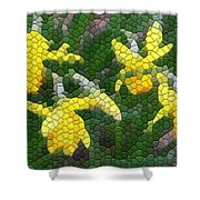 Daffies Shower Curtain