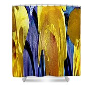 Daffodil Abstract Shower Curtain