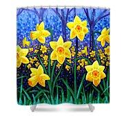 Daffodil Dance Shower Curtain