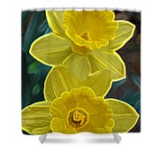 Daffodil Duet By Jrr Shower Curtain