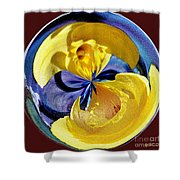 Daffodil Orb Shower Curtain