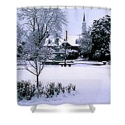 Daffodil Snow Shower Curtain by Skip Willits