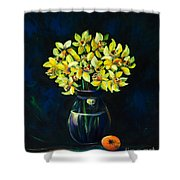 Daffodils And Fruit Shower Curtain