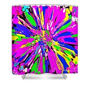 Dahlia Flower Abstract #1 Shower Curtain