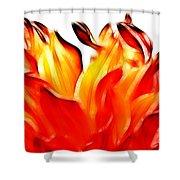 Dahlia On Fire Shower Curtain