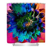 Dahlia With Textures Shower Curtain