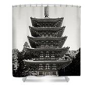 Daigo-ji Pagoda - Japan National Treasure Shower Curtain