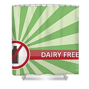Dairy Free Banner Shower Curtain
