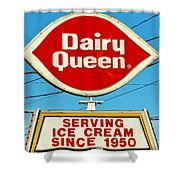 Dairy Queen Sign Shower Curtain